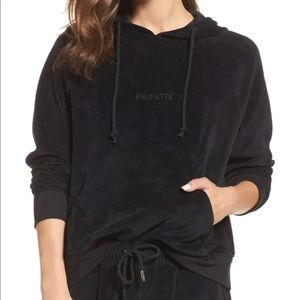 Brunette The Label 'Brunette' velour hoodie - XS/S